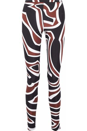 EMILIO PUCCI Printed stretch-jersey leggings