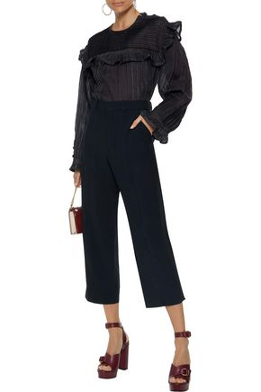 CHLOÉ Cropped crepe straight-leg pants
