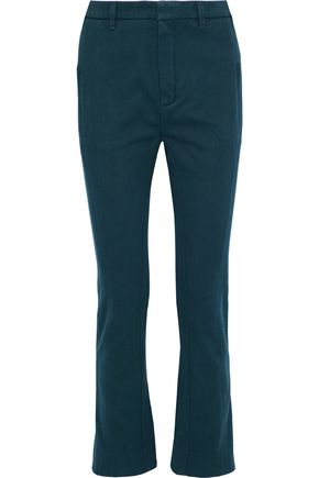 CHLOÉ Cotton-twill slim-leg pants