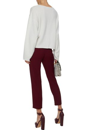 CHLOÉ Cropped cady tapered pants