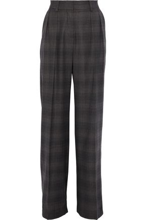 MAX MARA Valeria checked wool wide-leg pants