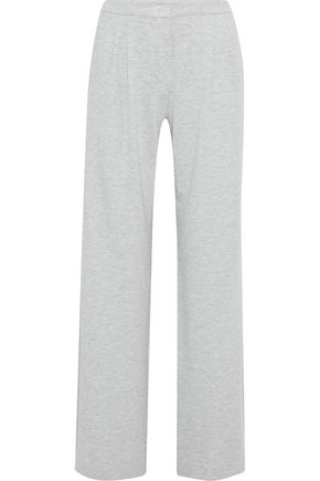 MAX MARA Trevi satin-trimmed stretch-jersey wide-leg pants