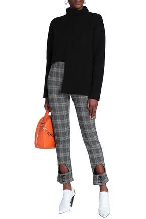 205eb9f520 ELLERY Cutout checked jacquard slim-leg pants
