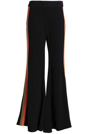 ELLERY Love Affair striped crepe flared pants