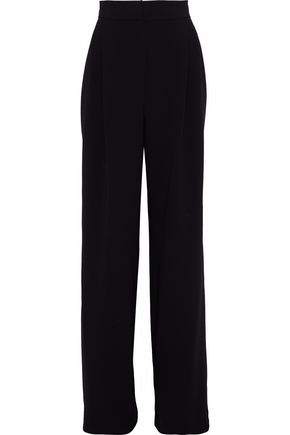 MAX MARA Pleated crepe wide-leg pants