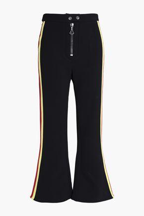 ELLERY Riviera striped twill kick-flare pants