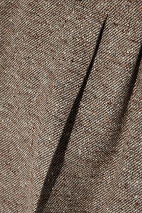 MAX MARA Ginosa marled wool-blend twill tapered pants