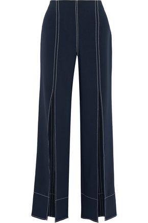CINQ À SEPT Magdalena split-front crepe wide-leg pants