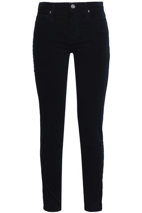 JOIE Stretch-cotton velvet skinny pants