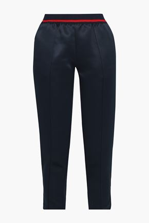 JOIE Adalwolfa cropped satin tapered pants
