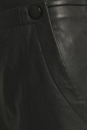 GREY JASON WU Cropped leather wide-leg pants