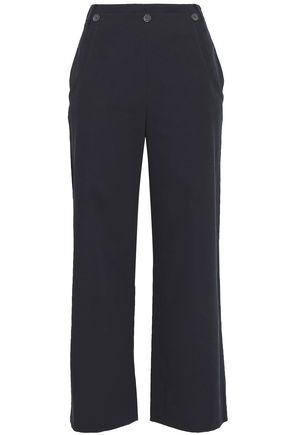 JASON WU Cropped cotton-blend twill wide-leg pants