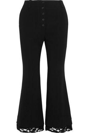PROENZA SCHOULER Lace-trimmed cady kick-flare pants