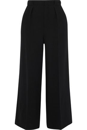 ROLAND MOURET Broadgate pleated wool-crepe culottes