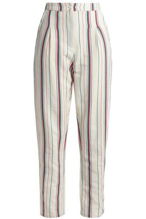 ANTIK BATIK Antonio striped cotton-canvas tapered pants