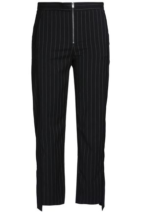 HOUSE OF DAGMAR Cooper cropped pinstriped woven slim-leg pants
