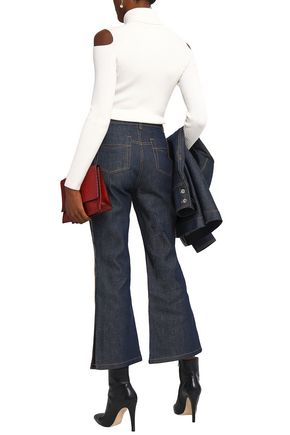 ELLERY Paneled high-rise flared jeans