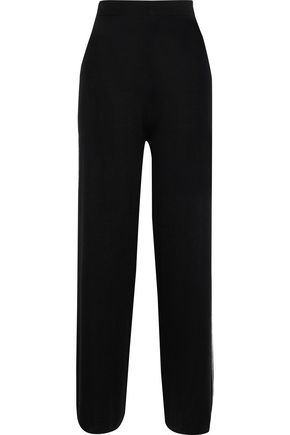 N.PEAL Cashmere and silk-blend wide-leg pants