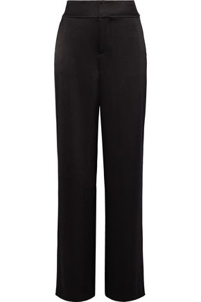 ALICE + OLIVIA Meritt satin-crepe wide-leg pants