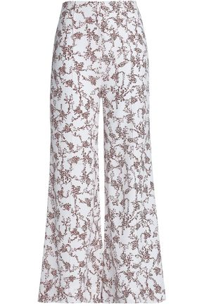 EMILIA WICKSTEAD Floral-print georgette wide-leg pants