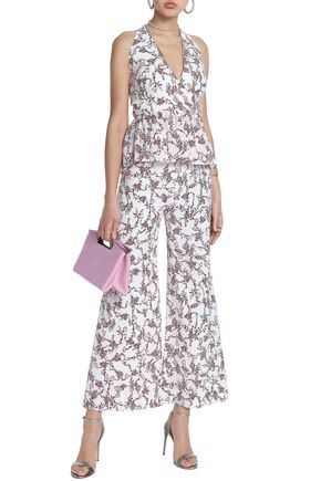 EMILIA WICKSTEAD Floral-print georgette wide-leg pants