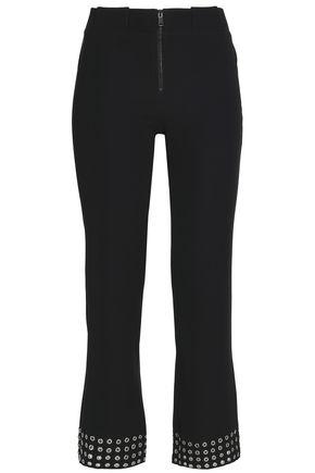 PACO RABANNE Eyelet-embellished crepe bootcut pants