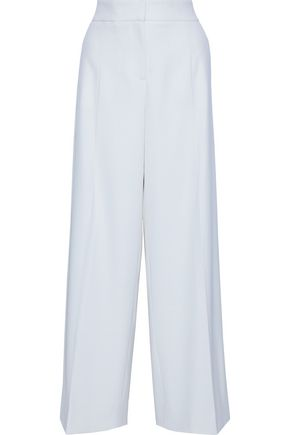 OSCAR DE LA RENTA Wool-blend twill wide-leg pants