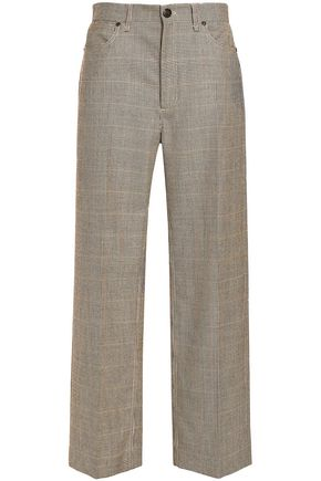 RAG & BONE Houndstooth wool wide-leg pants