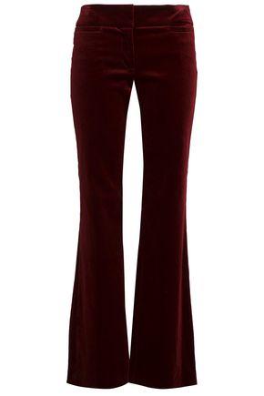 NILI LOTAN Velvet bootcut pants