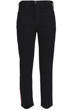 RAG & BONE Embroidered high-rise slim-leg jeans