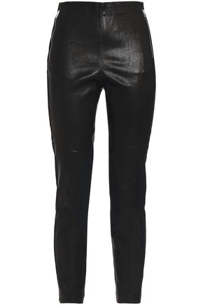 RAG & BONE Marissa jersey-paneled textured-leather leggings