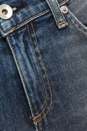 RAG & BONE Cropped distressed mid-rise skinny jeans