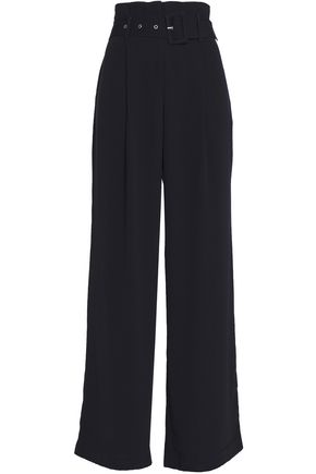 W118 by WALTER BAKER Suzette belted crepe wide-leg pants