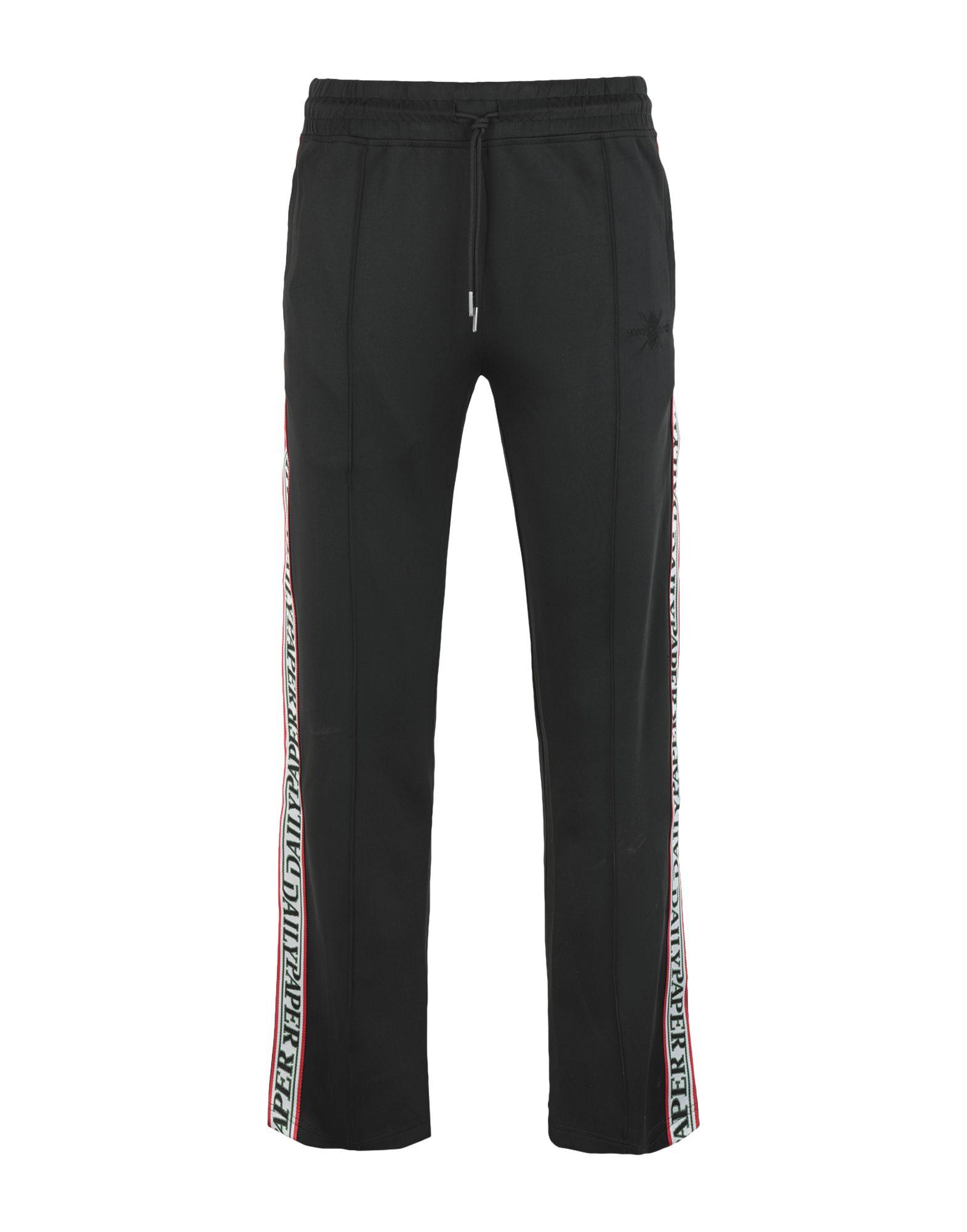 《送料無料》DAILY PAPER メンズ パンツ ブラック S ポリエステル 95% / ポリウレタン 5% LIBA