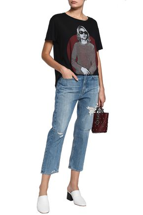 RAG & BONE Boy cropped distressed boyfriend jeans