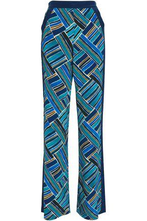 TALITHA Printed silk crepe de chine wide-leg pants