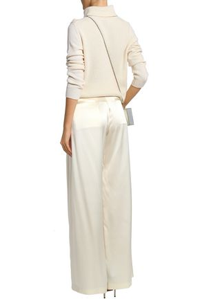 NILI LOTAN Silk-satin wide-leg pants