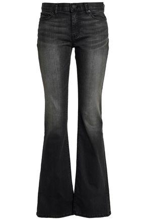 NILI LOTAN Faded mid-rise bootcut jeans