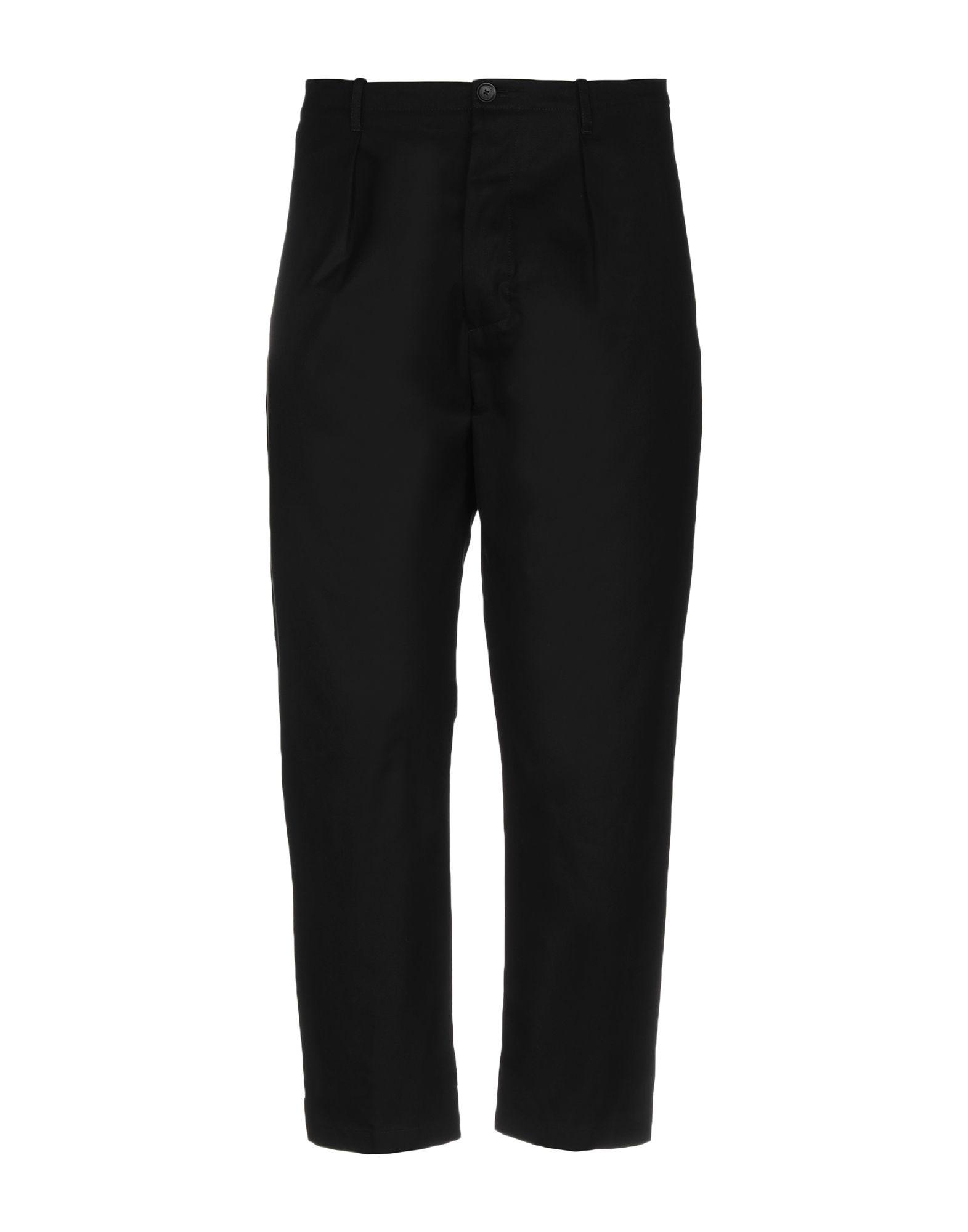 《送料無料》VALENTINO メンズ パンツ ブラック 46 コットン 100%