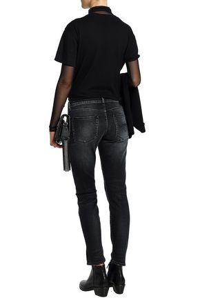 R13 Faded low-rise slim-leg jeans