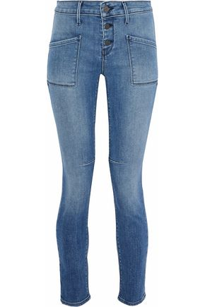 RTA Faded mid-rise skinny jeans