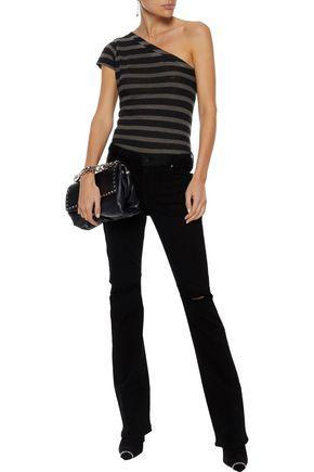 RTA Jackson distressed mid-rise bootcut jeans