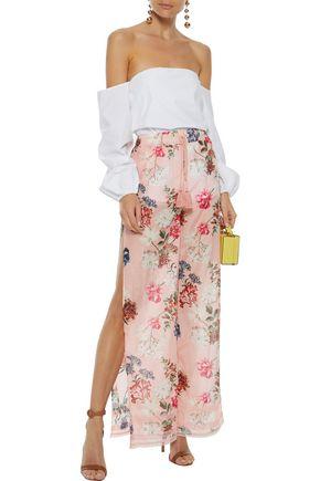 NICHOLAS Floral-print cotton and silk-blend wide-leg pants