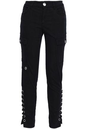 VERSUS VERSACE Lace-up mid-rise slim-leg jeans