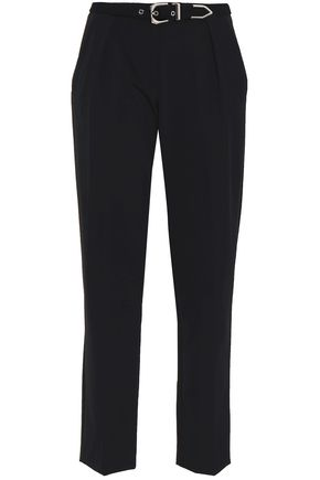 VERSUS VERSACE Belted stretch-crepe tapered pants