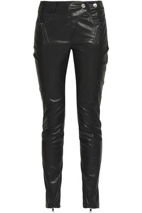 VERSUS VERSACE Faux leather skinny pants