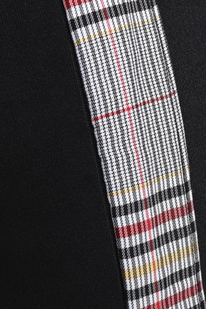 VERSUS VERSACE Checked paneled stretch-jersey track pants