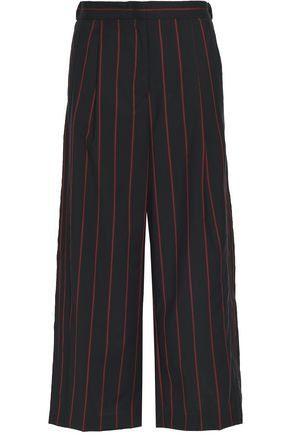 VERSUS VERSACE Pinstriped wool wide-leg pants