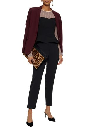 MICHAEL KORS COLLECTION Cropped stretch-wool twill slim-leg pants