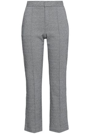 SEE BY CHLOÉ Cropped cotton-blend jacquard straight-leg pants